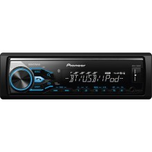 Pioneer MVH-X380BT Digital Media Receiver with Short Chassis Design and Bluetooth single DIN head unit